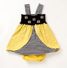Infant Bumblee Bee Knit Dress & Panty - Samara