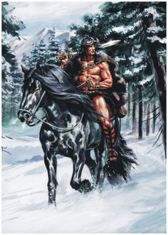 This is a quick painting i did a few years ago as a homage to Conan and the great artist Barry W. Conan in Vanaheim Fantasy Heroes, Fantasy Warrior, Sci Fi Fantasy, Marvel, Conan O Barbaro, Conan The Conqueror, Conan The Destroyer, Dragons, League Of Heroes