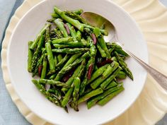 Sauteed Asparagus with Olives and Basil