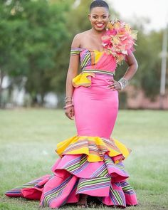 Explore South African wedding traditions, latest Igbo traditional wedding attire, what to wear to a Ghanaian wedding, shweshwe wedding dresses and Best African Dresses, African Fashion Ankara, African Traditional Dresses, African Inspired Fashion, Retro Wedding Dresses, Wedding Dresses For Sale, Wedding Dress Trends, Prom Party Dresses, Venda Traditional Attire