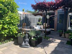 Grijze tinten in tuin. Dankzij moose farb! Patio, Outdoor Decor, Home Decor, Court Yard, Homemade Home Decor, Yard, Decoration Home, Terrace, Home Decoration