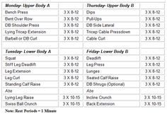 12 week workout plan- gym