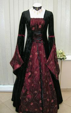 medieval dresses   Medieval Goth Open Sleeve, Dawns Medieval Dresses