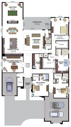 New flooring design circle Ideas New House Plans, Dream House Plans, House Floor Plans, Contemporary Games, Floor Design, House Design, House Blueprints, House Elevation, House Layouts
