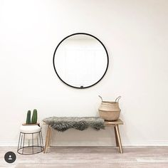 Entryway goals. Thanks for sharing how Hub mirror helped you complete this beautiful space @merelycash.