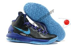 Buy Nike Zoom KD V 554988 003 Black Pack Black Blue Glow Festive Price