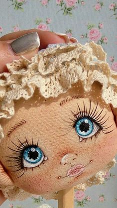 PDF Pattern- How to Make a Mini BeBe Baby Doll by BeBe Babies and Friends Soft Sculpture Baby Doll Pattern Cloth Doll Waldorf Doll Mini Doll Face Paint, Doll Painting, Fabric Toys, Fabric Crafts, Doll Eyes, Sewing Dolls, Rock Crafts, Diy Crafts, Waldorf Dolls