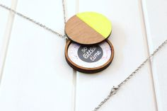 Neon Dipped Photo Locket Yellow