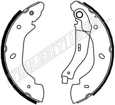 ΣIAΓΩNEΣ ΦPENOY FORD TRANSIT 17-040.148 Brake Shoes, Ford Transit
