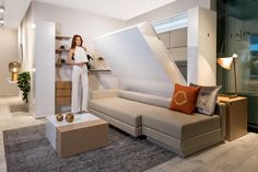 Get more space for living with our transformable furniture. Murphy Bed, Couch, Sofa Bed, Sleep, Compact Living, House Design, Apartments, Interior, Wall