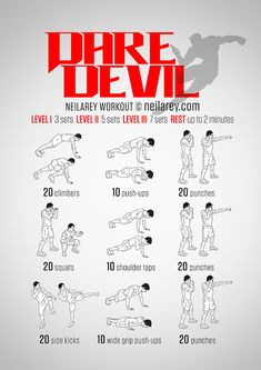 Daredevil Workout Full Body Workout #workout #fitness