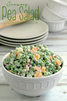 Pea and cheese salad