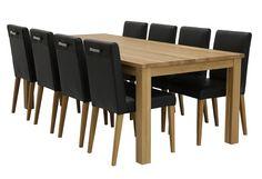 Delta tammipöytä   8kpl Mode tuolia.
