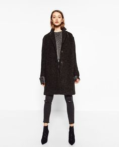 LONG CLOTH COAT-Coats-OUTERWEAR-WOMAN-SALE | ZARA United States