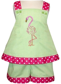 Girls Monogram Flamingo Dress or Swing Top and by ChildrensCottage, $56.00