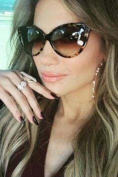 Jennifer Lopez wearing Mattia Cielo Rugiada Earrings and Dita Eclipse Sunglasses