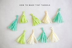 how to make tiny tassels