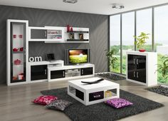Living Room Furniture Tv Units living room furniture set 4 ''verin'' including: tv cabinet