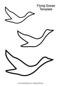 Goose Flying Template