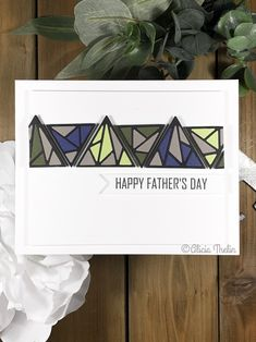 I had so much fun using Altenews Shattered Triangles to make this graphic Father's Day card. It's never to early to be prepared. Celebrate Good Times, Altenew, Pretty Cards, Baby Cards, Greeting Cards Handmade, Homemade Cards, Cardmaking, Ali, Birthday Cards