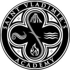 Logo of the Saint Vladimir's Acadamy Vampire Academy Tattoo, Vampire Academy Rose, Vampire Academy Books, Vampire Books, Christian Ozera, Rose Hathaway, Academy Logo, Halloween Horror, Book Fandoms