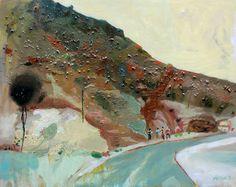 """Atlas Mountains 03,"" original landscape painting by artist Gorkem Dikel (Turkey) available at Saatchi Art #SaatchiArt"