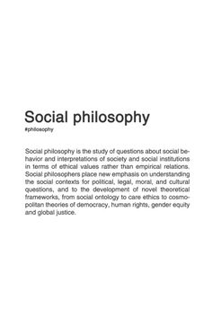 Definition of social philosophy. Philosophy Theories, Philosophy Of Science, Philosophy Books, Philosophical Thoughts, Great Philosophers, Aesthetic Words, Psychology Facts, Quotations, Politics