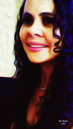 Digital Painting - Title Of de Work: Beautiful Brazilian Lady