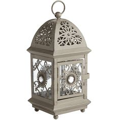 Mini Jeweled Lantern - Gray