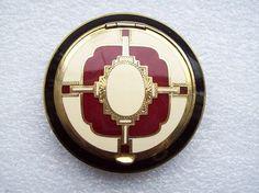 Antique Guilloche Art Deco Powder Compact Purse Vanity Rouge Makeup | eBay GORGEOUS<3 @