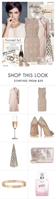 """""""New Year's Style Resolution"""" by mcheffer ❤ liked on Polyvore featuring Alexander McQueen, Adrianna Papell, Rogaska, Jimmy Choo, Kate Spade, Cartier, philosophy and styleresolution"""