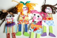 Making paper dolls is a great way to explore textiles with your child