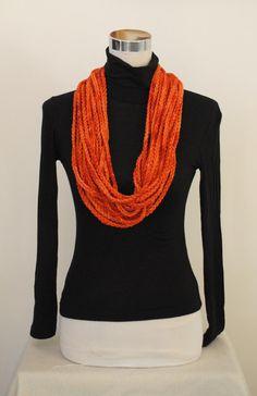 malabrigo, crochet scarf, cowl, infinity scarf, chain