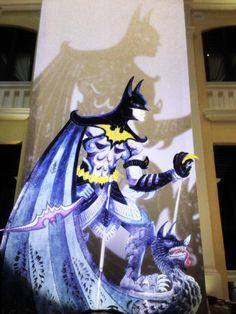 Batman shadow puppet