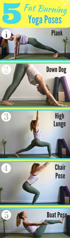 5 Fat Burning Yoga Poses You Have to Try via @DIYActiveHQ #exercise