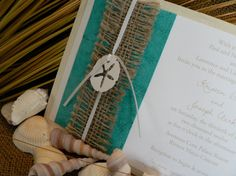 Beach wedding invitation on Etsy.