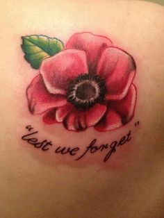 Poppy lest we forget tattoo, getting this on my foot next. Help for heroes x