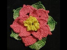 ▶ Объёмный цветок Вязание крючком Volumetric Flower Crocheting - YouTube