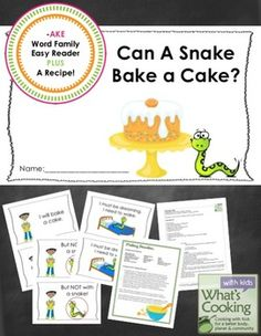 -AKE Word Family Easy Reader and Cooking Activity from What's Cooking with Kids