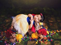 baby dressed as Snow White