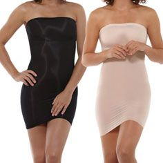 curve-sculpting strapless slip fixes flaws with revolutionary fabric