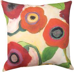 Garden Memory Poppy Pillow