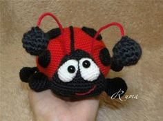 download a FREE pattern every day. ~ Funny Ladybug! |  Crochet Stash .Tumblr .Com