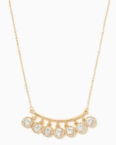 charming charlie | Bejeweled Bar Pendant Necklace | UPC: 410007572446 #charmingcharlie
