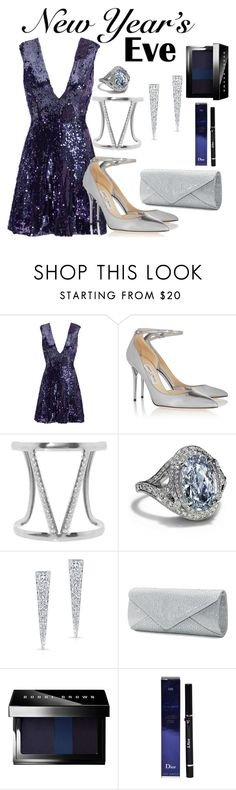 """NYE Sparkle"" by cpearlz on Polyvore featuring Slate & Willow, Jimmy Choo, Humble Chic, Tiffany & Co., Mascara, Bobbi Brown Cosmetics and Christian Dior"