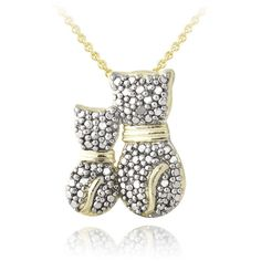 DB Designs 18k Gold Over Silver Diamond Accent Adoring Parent Cat... ($20) ❤ liked on Polyvore featuring jewelry, necklaces, yellow, gold pendant necklace, chain necklaces, yellow gold necklace, long chain necklace and long gold necklace