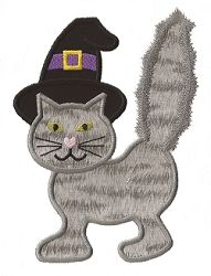 Witch Cat Applique - 3 Sizes!   Halloween   Machine Embroidery Designs   SWAKembroidery.com Applique for Kids