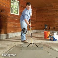 An easy-to-apply resurfacing product is a great way to recover a rough-looking garage floor.