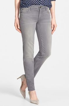 LOVE the gray jeans - wish it weren't a skinny. My poor calves!   KUT from the Kloth 'Diana' Stretch Skinny Jeans (Grey) available at #Nordstrom