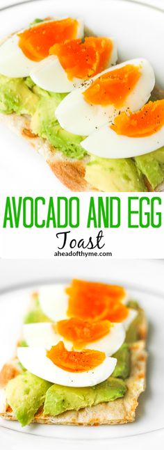 Avocado and Egg Toast: Don't have a lot of time for breakfast? Try this quick…